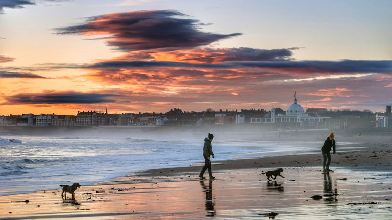 Whitley Bay beach, North East England has been awarded a Blue Flag award by Keep Britain Tidy.