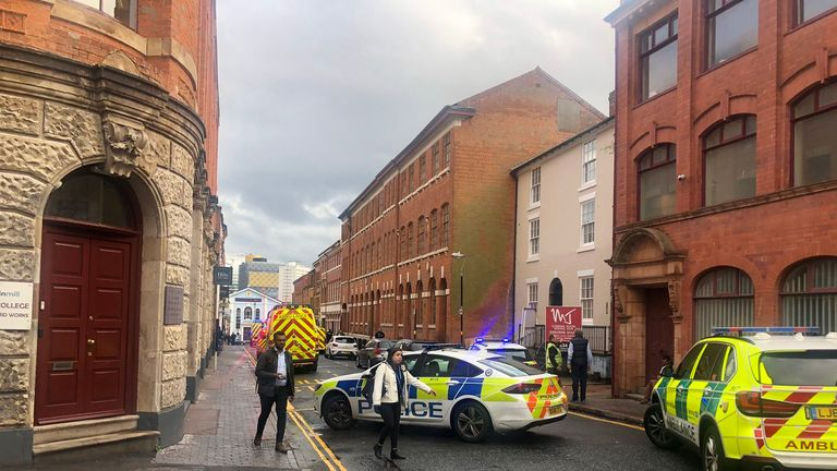 West Midlands Police said the building collapsed just before 6pm. Pic: Mat Danks