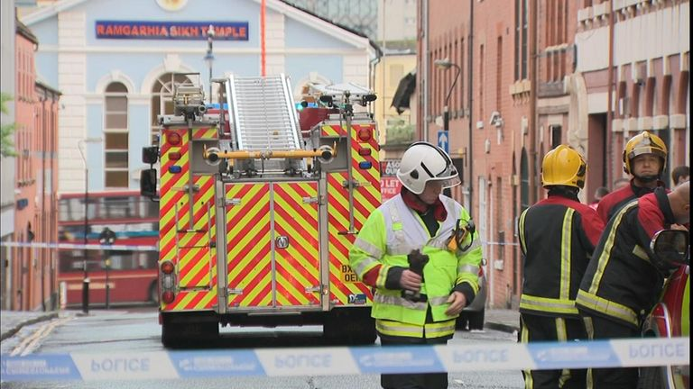 A building has collapsed in Birmingham.
