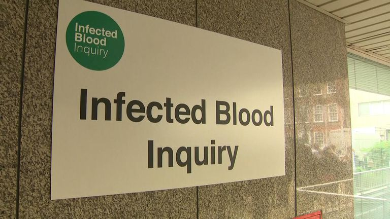 The inquiry is listening to stories of those who have been given infected blood