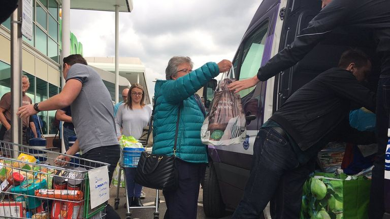 The food bank organiser said he was overwhelmed by the response