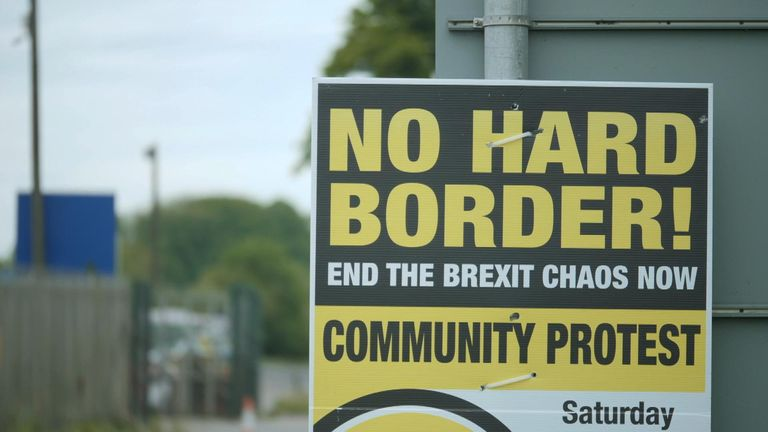 Mr Barclay made the comments near the border between Northern Ireland and the Republic