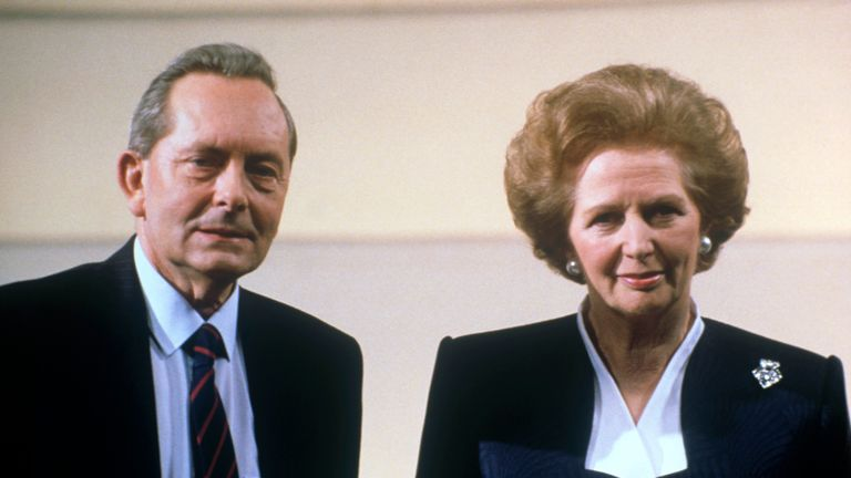 Broadcaster and former Labour MP Brian Walden with then prime minister Margaret Thatcher