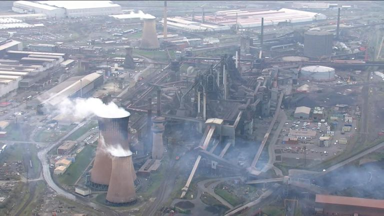 British Steel's metal centre in Scunthorpe