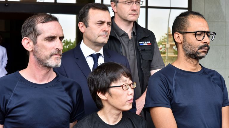 First photos of freed hostages after French rescue mission