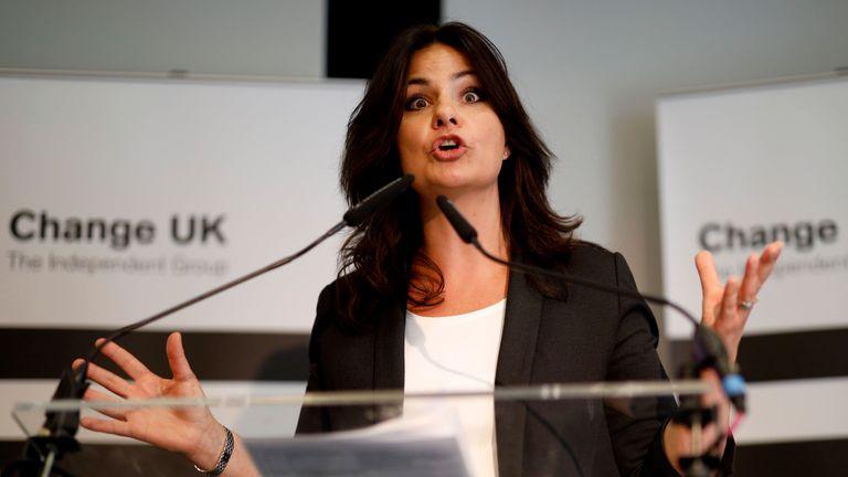 Change UK leader Heidi Allen