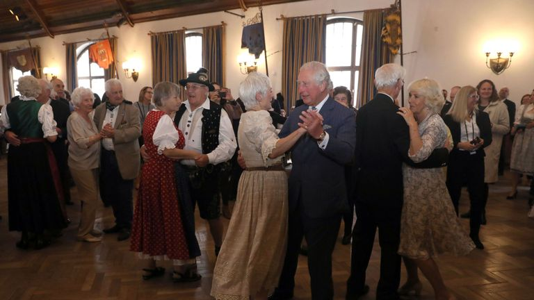 Charles and Camilla waltzed their way through the third day of their visit