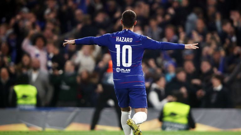 Eden Hazard scored the decisive penalty for Chelsea