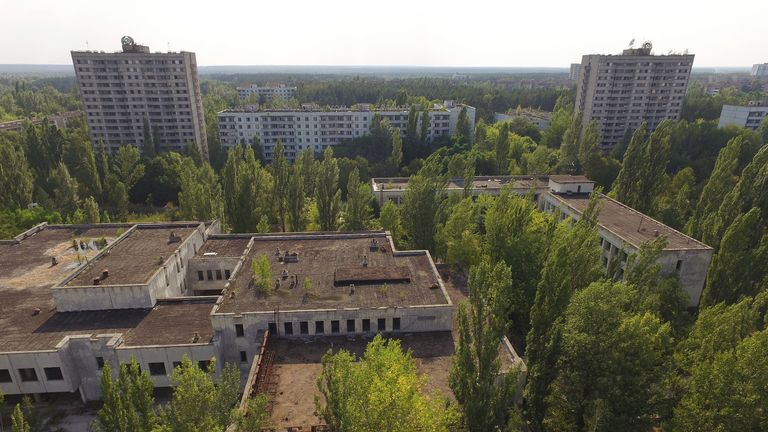 Chernobyl nuclear fallout zone mapped by drones | UK News ...