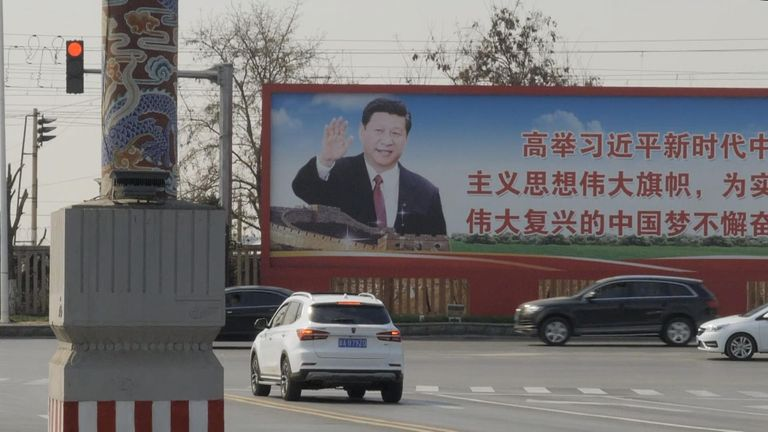 Billboards featuring Xi Jinping appear across the country