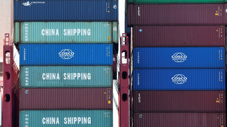 China imports far more to the US than America sends the other way