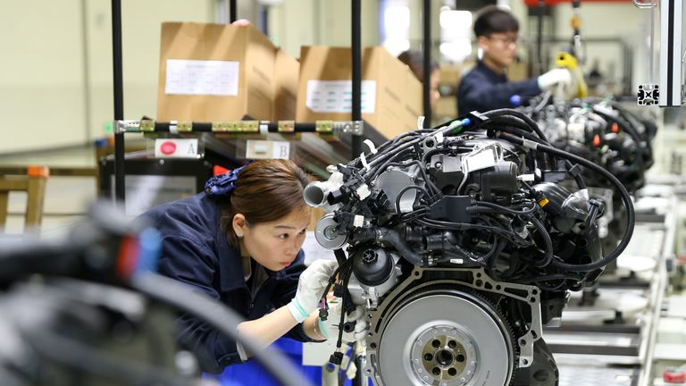 Car parts are among the Chinese products hit by the tariff increases