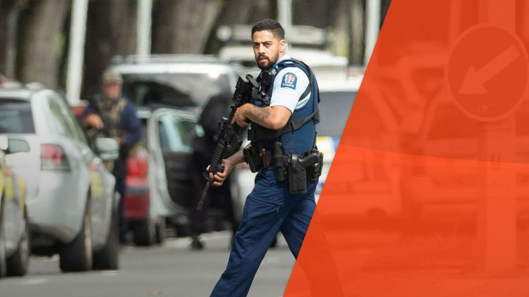 Armed police took to the streets of Christchurch after the mosque shootings