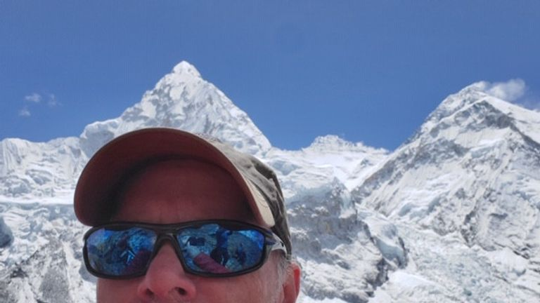 Christopher Kulish, 62, died shortly after reaching the top of Mount Everest. Pic: Mark Kulish