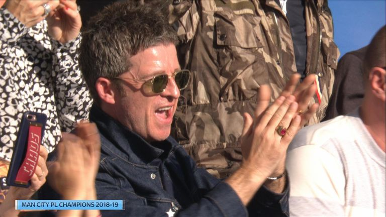 Noel Gallagher celebrated Manchester City's title win.