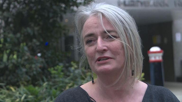 A woman who contracted HIV from her husband after he was given contaminated blood has given evidence on the third day of the Infected Blood Inquiry in London.