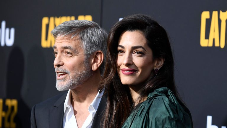 George and Amal Clooney have 1-year-old twins