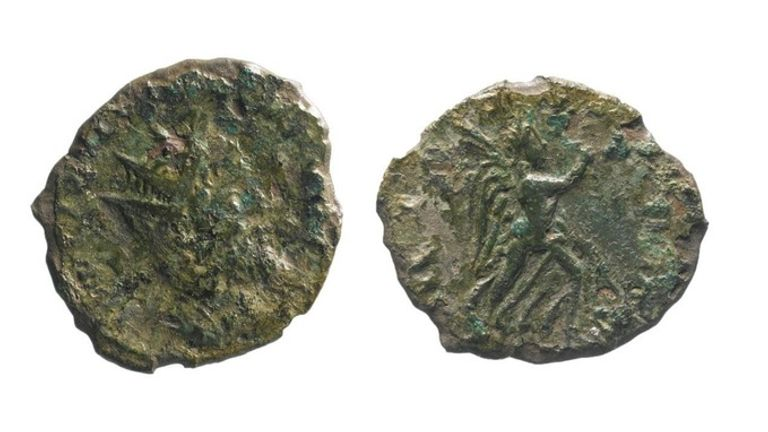 The coin was found by the A14 in Cambridgshire. Pic: Highways England