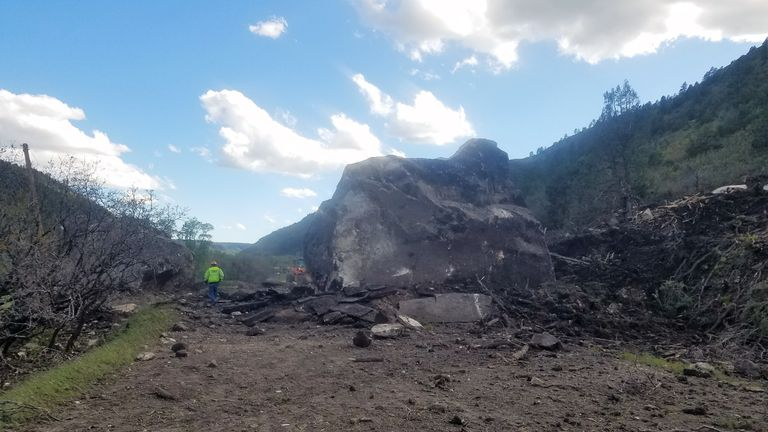 Huge Rockslide Sparks Indefinite Closure of Colorado Highway
