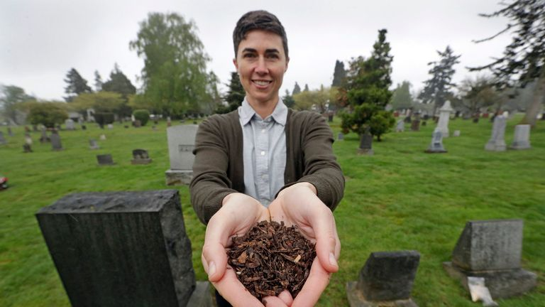 Katrina Spade wants to use composting as an alternative to burial or cremation