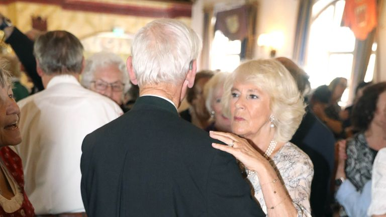 Duchess of Cornwall dances with Hans Klaindl, 88
