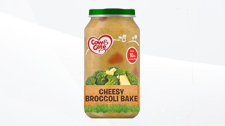 Cow & Gate's Cheesy Broccoli Bake has been recalled. Pic: Cow & Gate