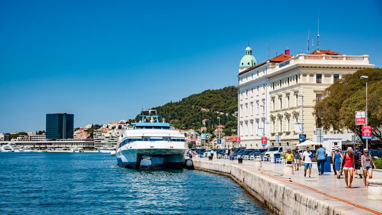 Sea ferries in Croatia are the main transport between the islands. File pic