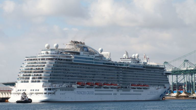 The passengers on the planes were from the Royal princess cruise ship