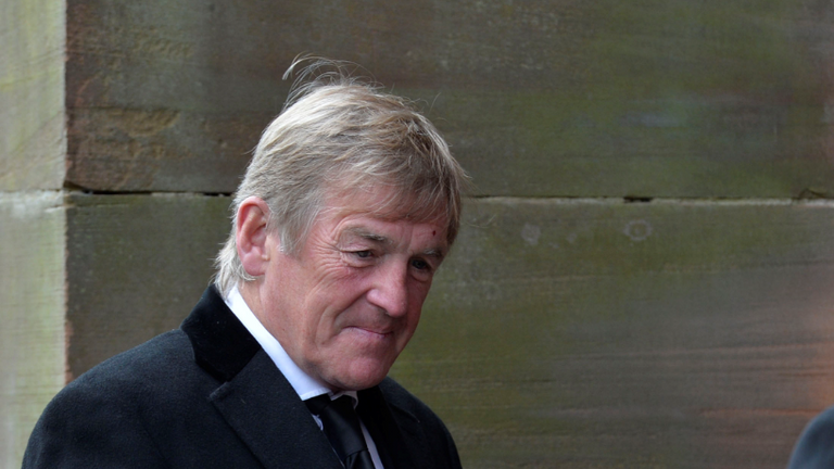 Former Celtic manager Kenny Dalglish paid his respects at the funeral