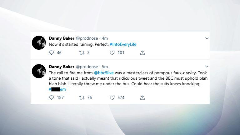 Danny Baker's tweets