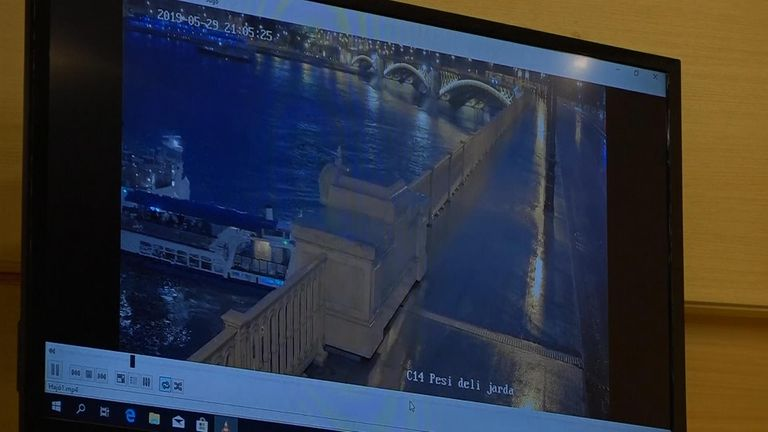 The moment the boats hit was caught on CCTV