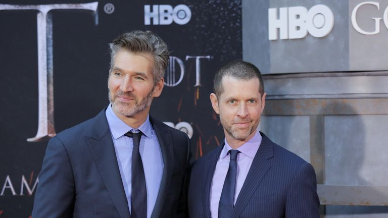 David Benioff, left, and D.B. Weiss will direct a Star Wars film set for release in December 2022