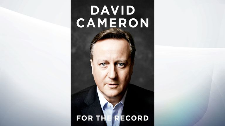 The front cover of David Cameron's autobiography For The Record
