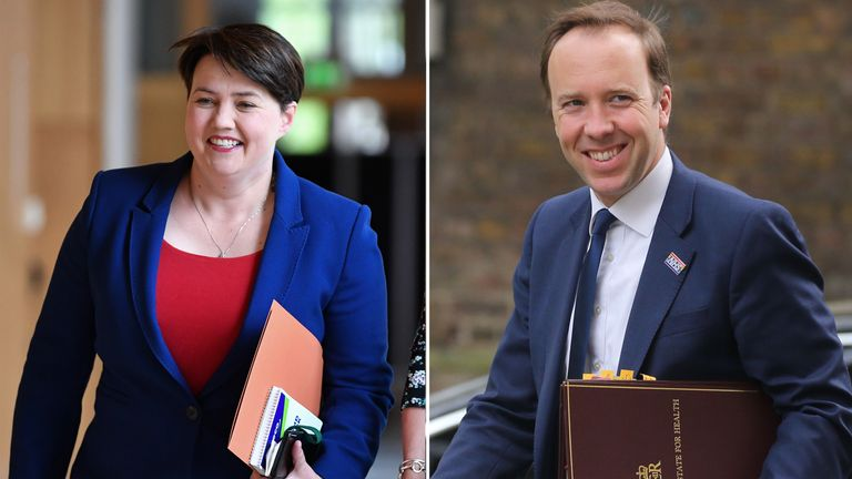 Ruth Davidson and Matt Hancock