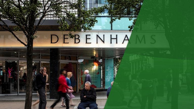 Debenhams toppled into administration earlier this year