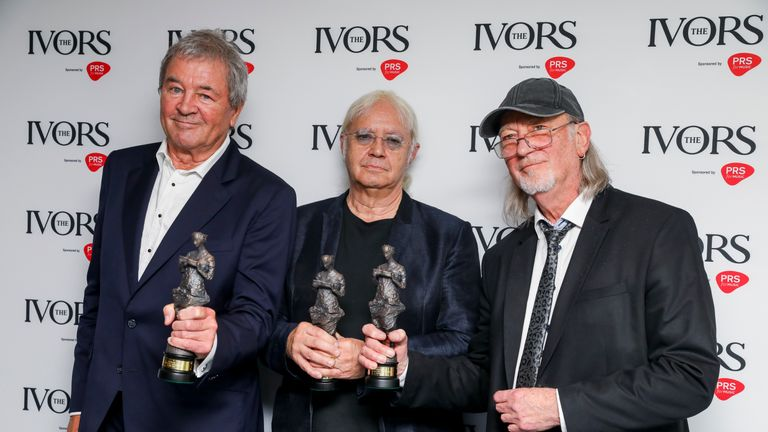 "Deep Purple singer Ian Gillan said winning the international award was a ""great honour"""