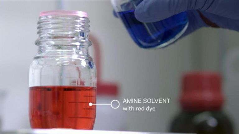Amine solvent. Pic: Jane Nisselson/Columbia Engineering