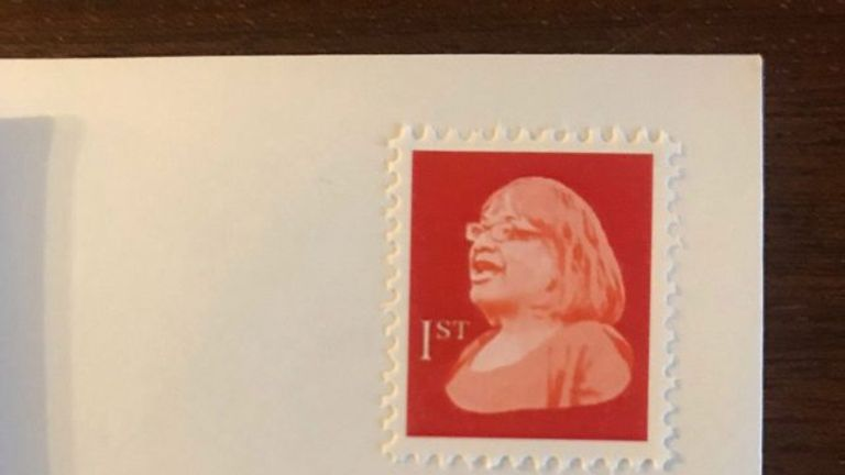 The stamps are said to be making its way through the postal network.