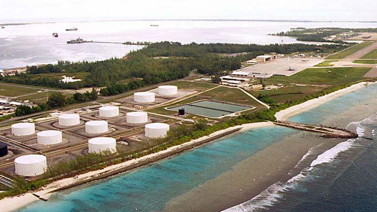 A military airstrip on Diego Garcia