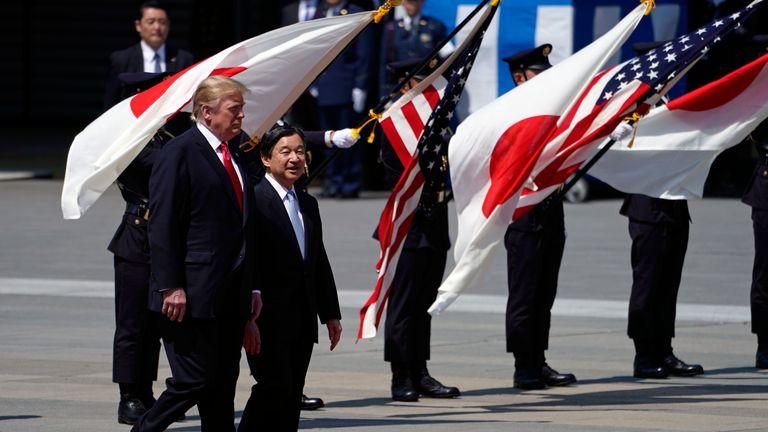 Donald Trump and Japan's Emperor Naruhito