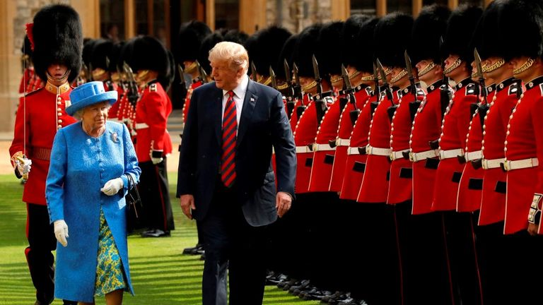 Donald Trump meet with the Queen when he visited the UK in July 2018