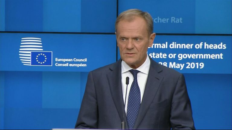 "Britain's Brexit paralysis served as a ""vaccine"" against the eurosceptic vote in the EU's parliamentary elections, European Council President Donald Tusk has said."