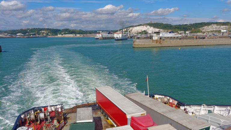 Ferries leaving Dover