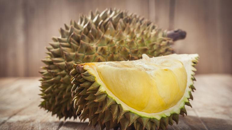 The durian is sweet but has a pungent odour
