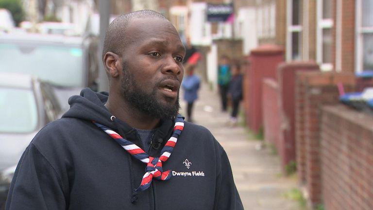 Dwayne Fields was a Scout in Hackney
