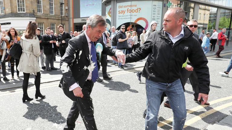 Image result for farage milkshake