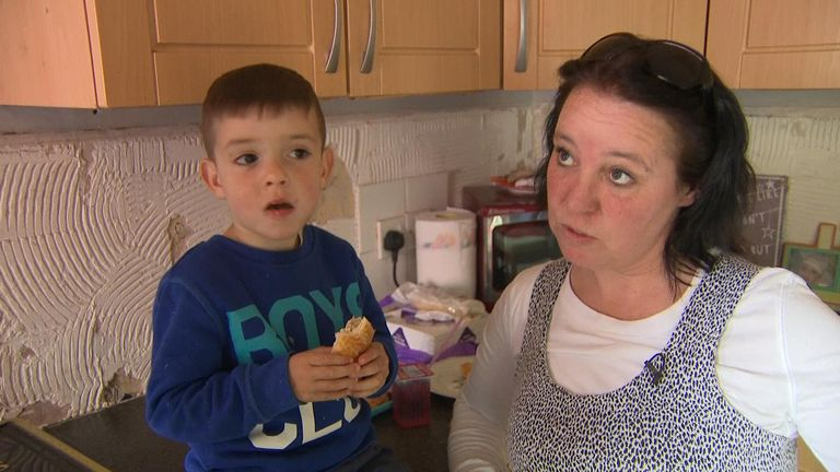 This woman relies on a food bank despite having a job and a mortgage