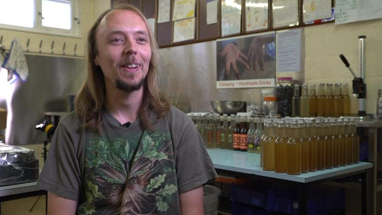 Sean Tuck has become an expert at brewing-up locally-sourced soft drinks using long-forgotten recipes