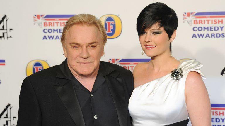 Freddie Starr, pictured in 2011, with Sophie Lea