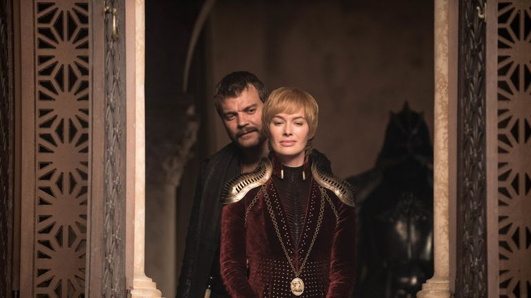 Pilou Asbæk as Euron Greyjoy & Lena Headey as Cersei Lannister
